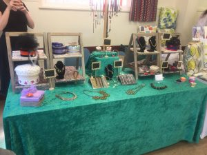jewellery stall at a craft fair